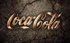 Картинка земля, Coca-Cola, трещины