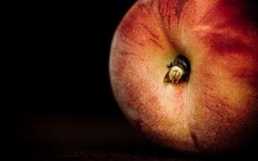 Обои персик, еда, фрукт