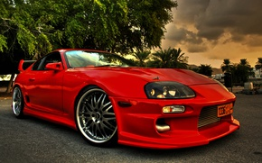 Картинка Red, Toyota, Supra