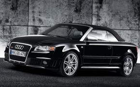 Обои Audi, стена, черный