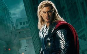 Обои Мстители, Тор, плащ, Thor, The Avengers