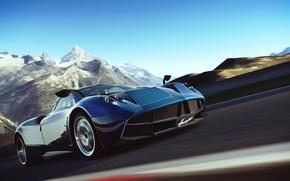 Картинка арт, Pagani Huayra, Gran Turismo-6, автосимулятор