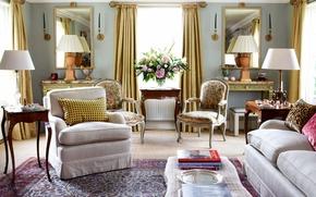 Картинка дизайн, стиль, комната, вилла, интерьер, гостиная