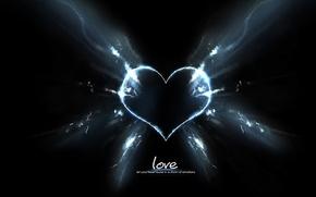 Картинка лучи, любовь, темнота, сердце, love