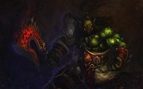 Обои Воин, WoW, Орк, World of warcraft, вов, ork, Орда, Grom Hellscream, Horde, Громмаш, Гром Адский ...
