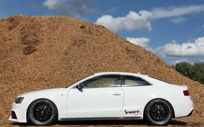 Картинка Audi, ауди, тюнинг, профиль, белая, 2012, Germany, Coupe, Turbo, Luxury, Tuner, Senner, Sports car, V-6
