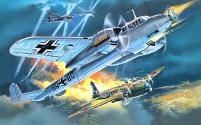 Картинка рисунок, арт, Dornier, ночной истребитель, Do 215 B-5, Kauz III, welington