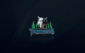 Картинка Синий, Баскетбол, Волк, Логотип, NBA, Миннесота, Лесные Волки, Minnesota TimberWolves