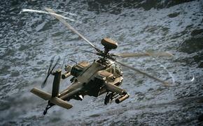 Картинка полёт, вертолёт, Apache, ударный, AH-64, основной, «Апач»
