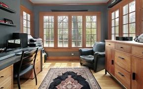 Картинка interior, workspace, home office