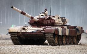 Картинка красный, танк, Биатлон, Т-72