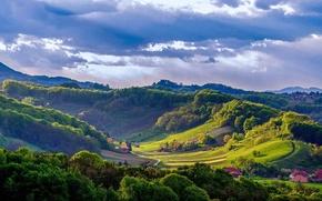 Картинка пейзаж, природа, ландшафт, Словения, Branka Mašić, Zagorje