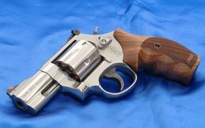 Картинка Обои, Фон, Оружие, Полотно, Револьвер, Smith & Wesson, Model 686P