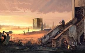 Картинка здание, Stalker, припять, зона, украина, сталкеры