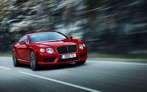Картинка Красный, Bentley, Continental, Машина, Фары, Передок, Range