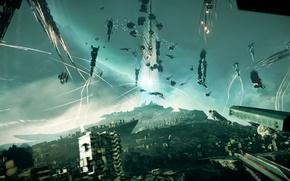 Картинка корабли, битва, Killzone Shadow Fall
