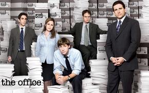 Картинка бумага, люди, Сериал, главные актеры, Офис