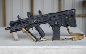 Обои TAR-21, штурмовая, винтовка, Тавор, ремень, автомат, дизайн