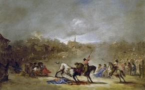 Картинка картина, коррида, Судьба, Эухенио Лукас Веласкес