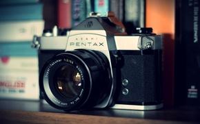 Картинка камера, фотоаппарат, объектив, pentax, camera, old