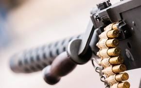 Картинка макро, патроны, пулемёт, станковый, Браунинг M2