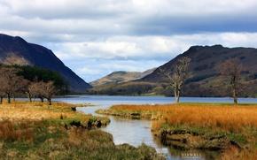 Картинка осень, горы, озеро, Hipwell