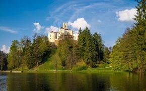 Картинка пейзаж, природа, замок, гора