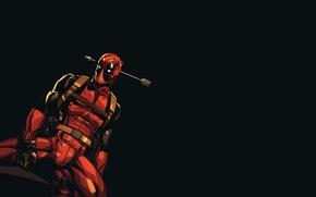 Картинка Deadpool, Marvel, Дэдпул, Стрела, Wade Wilson