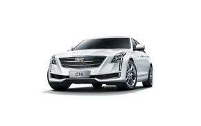 Обои кадиллак, белый фон, Cadillac, CT6, седан