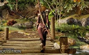 Картинка лук, эльфийка, dragon age, rpg, bioware, сера, inquisition