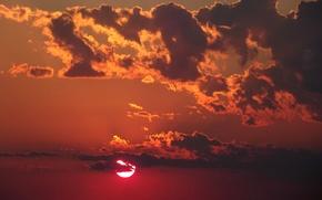 Картинка лето, небо, закат, Природа, summer, sky, nature, sunset