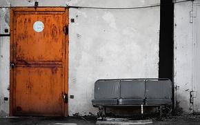 Обои Лавка, Стиль, Дверь, Номер