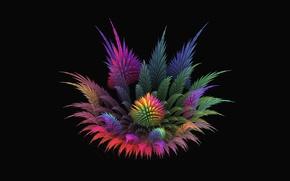 Картинка цветок, фон, фрактал