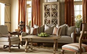 Картинка дизайн, стиль, интерьер, colors, country, living room, decoration
