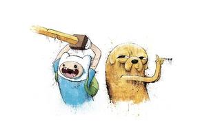Картинка Adventure Time, Время приключений, Финн и Джейк