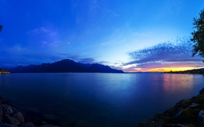 Картинка пейзаж, озеро, гора, Швейцария, Switzerland, Lake Geneva