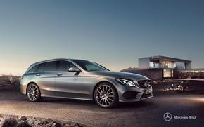 Картинка Mercedes-Benz, мерседес, универсал, 2014, C-class, S205