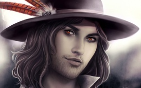 Картинка шляпа, перья, Мужчина