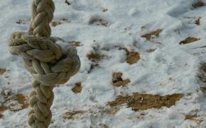 Картинка песок, снег, канат