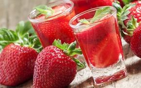 Обои strawberry, red, спелая, сок, красная, ягоды, berries, sweet, fresh, клубника