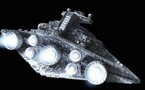 Картинка Star Wars, fire, design, color, Destroyer, turbines