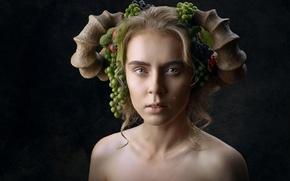 Картинка девушка, эмоция, Lena Korovashkina, Disillusion