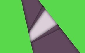 Картинка белый, линии, сиреневый, геометрия, салатовый, android, material