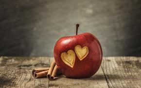Обои sweet, сердце, love, heart, apple, любовь, romantic