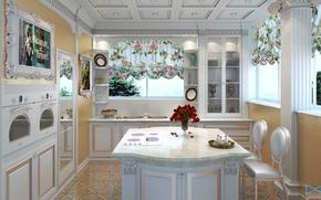 Картинка дизайн, стиль, комната, интерьер, кухня