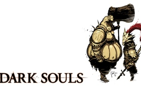 Картинка тёмные души, Dark souls, Орнштейн Драконоборец и Палач Смоуг