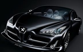 Обои Concept, Peugeot, черный