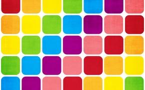 Обои радуга, краски, квадрат