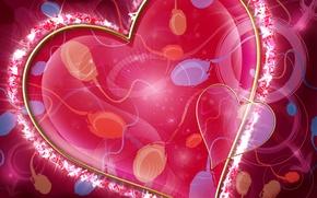 Картинка сердце, арт, семя, валентинка