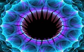 Картинка цветок, краски, кольцо, объем, симметрия